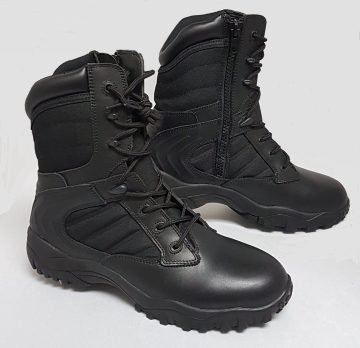 Leather and Ballistic swat boot