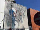 """fresque mural Herakut à paris dans le 1""""ème arrondissement"""