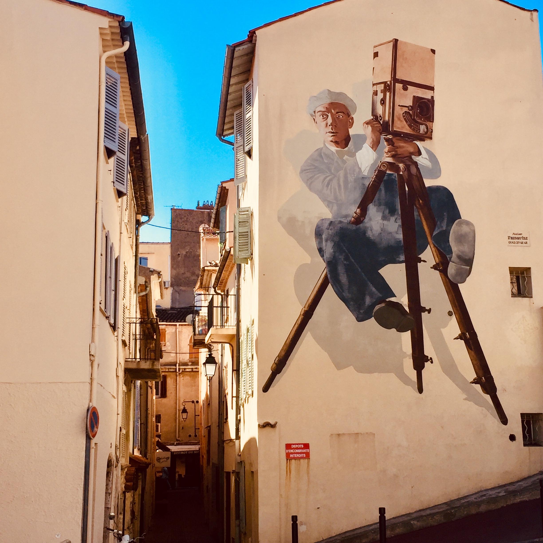Fresque Buster Keaton à Cannes
