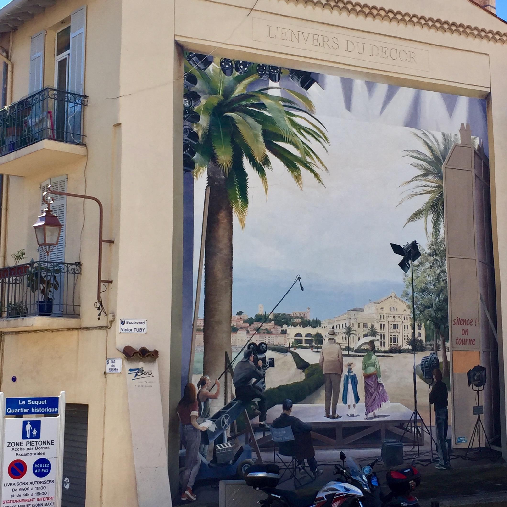 Fresque murale L'envers du décor