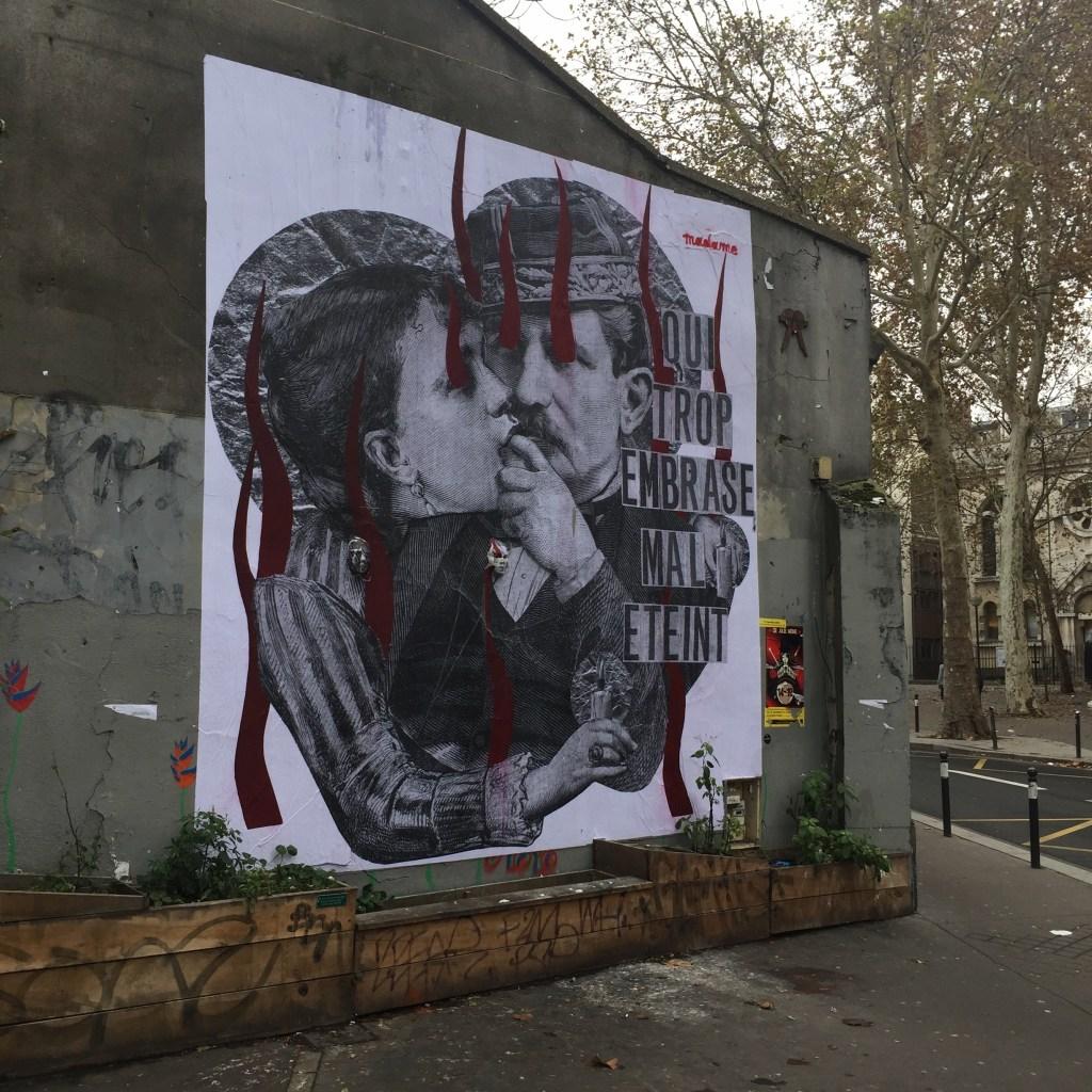 collage de la Street Artiste Madame réalisé à Paris - Street Art France
