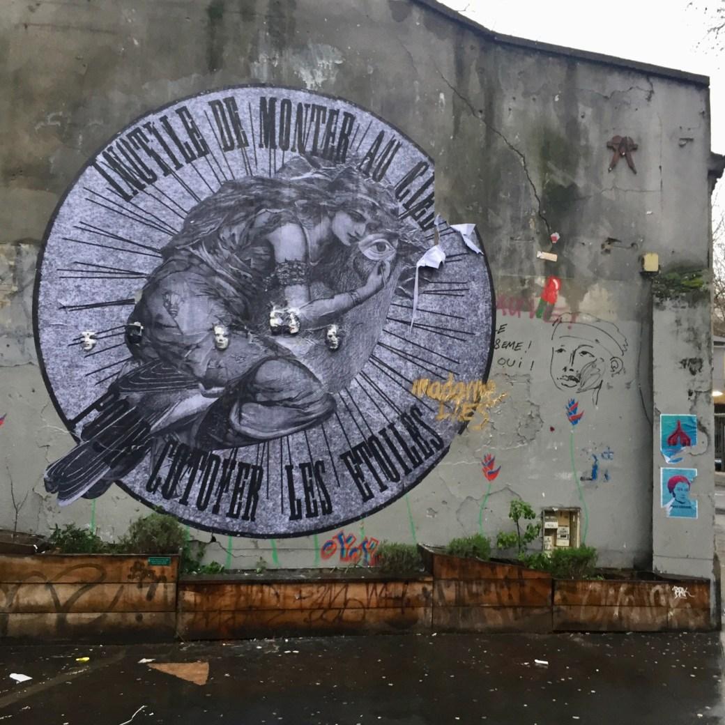 oeuvre réalisée par l'artiste Madame à Paris - Street Art France