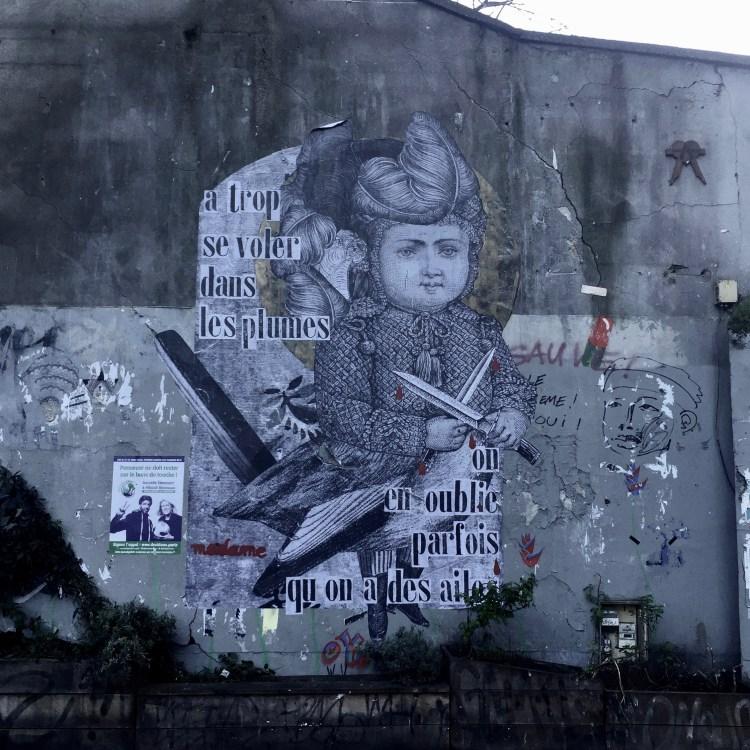 Oeuvre de la Street Artiste Madame à Paris - france