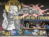 Madame Moustache - Street Art - l'aérosol