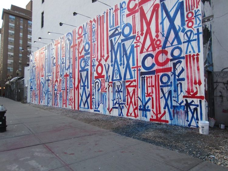 Houston Bowery Wall par RETNA