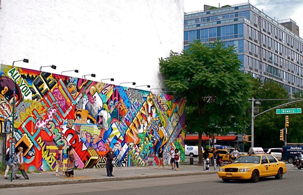 Houston Bowery Wall par REVOK et POSE