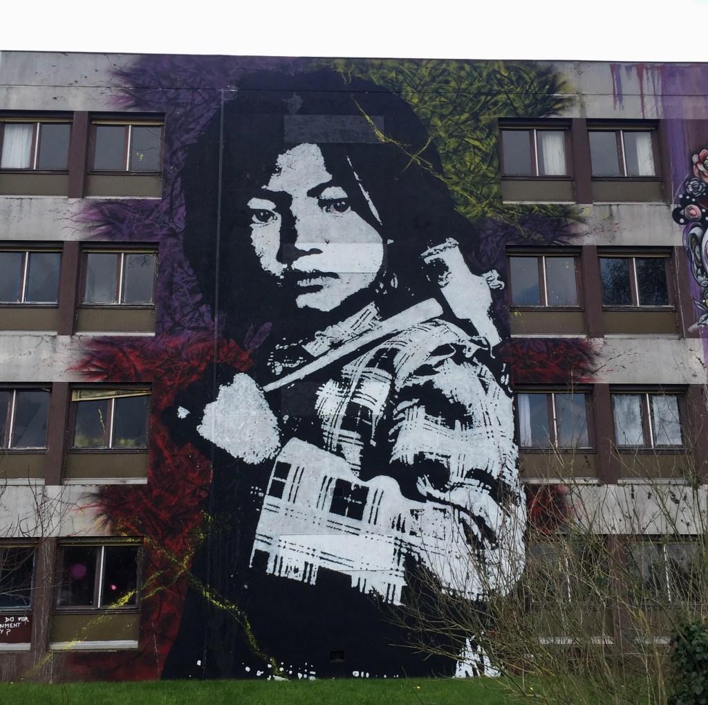 Street Art : fresque monumentale d'enfant réalisée par Ted Nomad