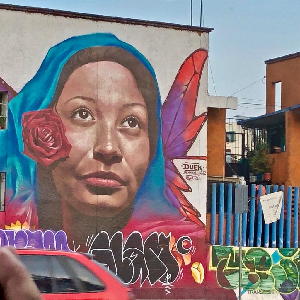 Fresque murale par DUEK du Colectivo Chiquitraca - Street Art Mexico