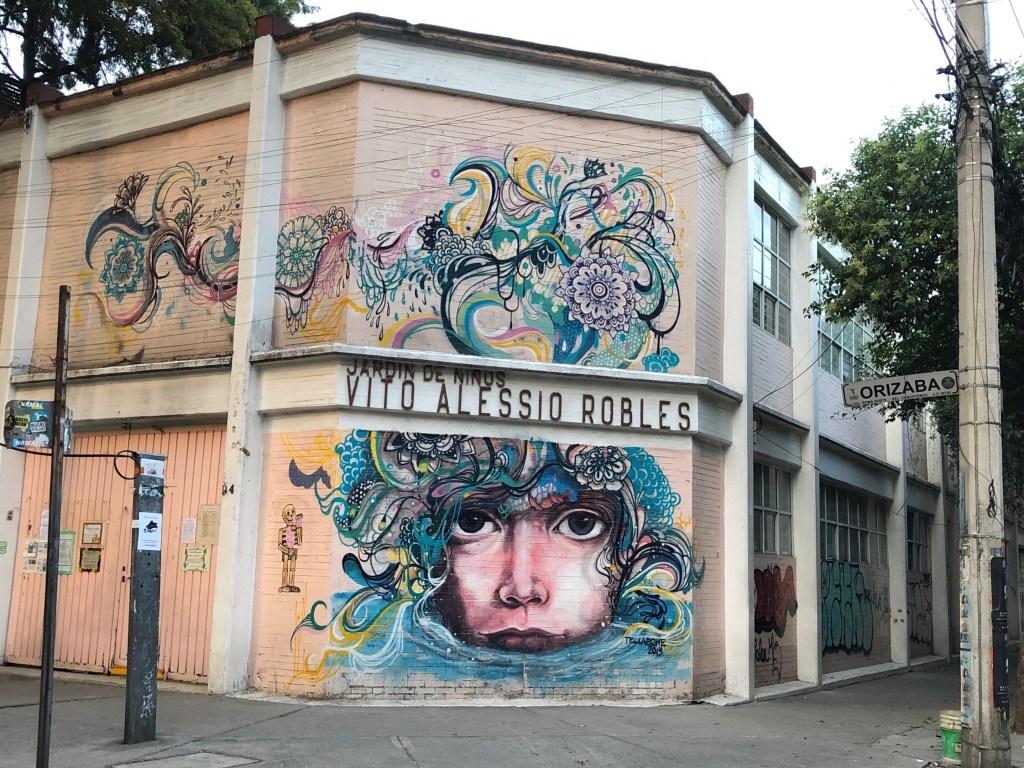 Fresque murale réalisée par l'artiste Jorge Tellaeche à Mexico City