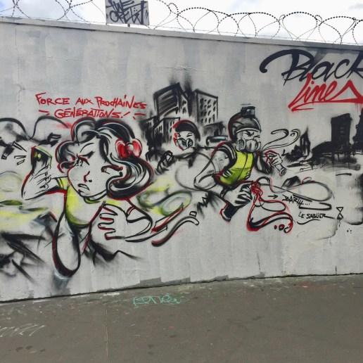 Street Art Paris - Fresque contestataire réalisée par Barth Le Sablier sur le Mur ordenere