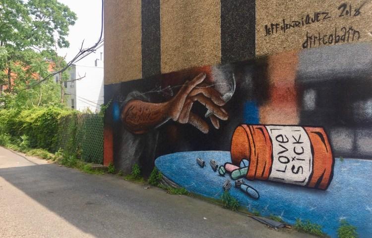 Street Art, Fresque murale réalisée par jeff Henriquez et Dirt Cobain dans le Queens pour le Welling Court Mural Project