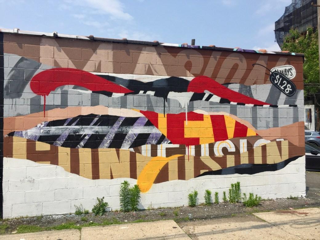 Fresque murale de Mr Never Satisfied artiste de Brooklyn