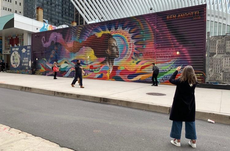 muralart par Ben Angotti au World Trade Center - photo par le blog Street Art Altinnov