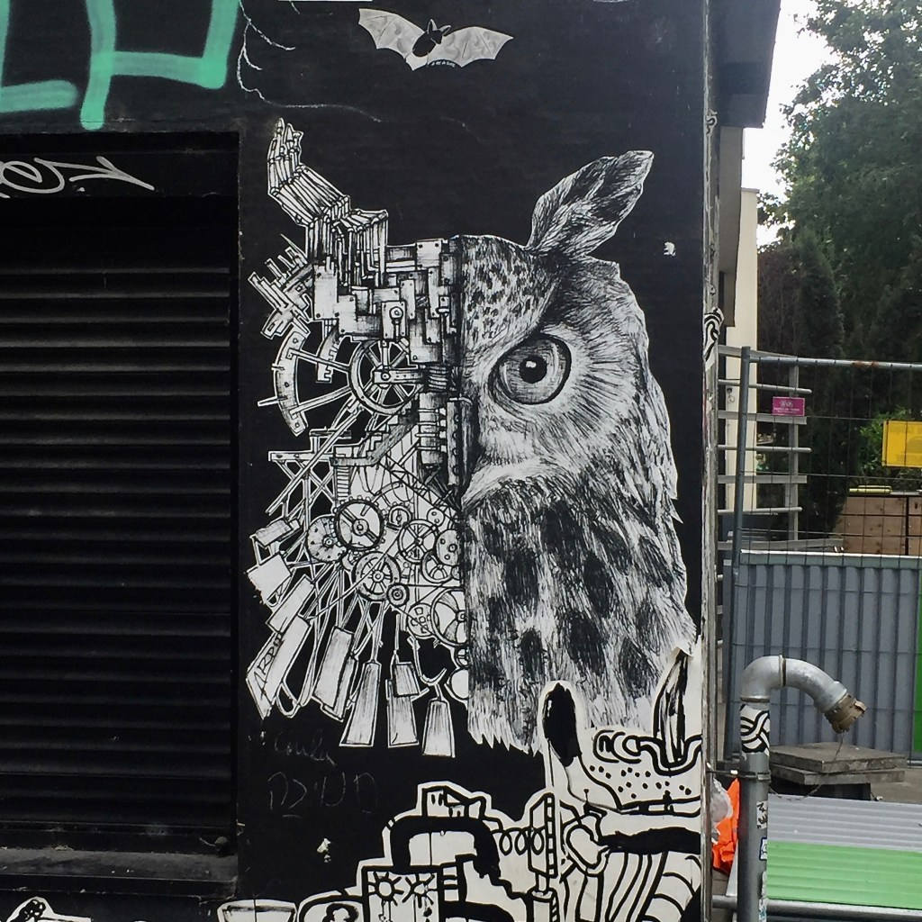 Hiboux dessiné par le Street Artiste ARDIF à Paris