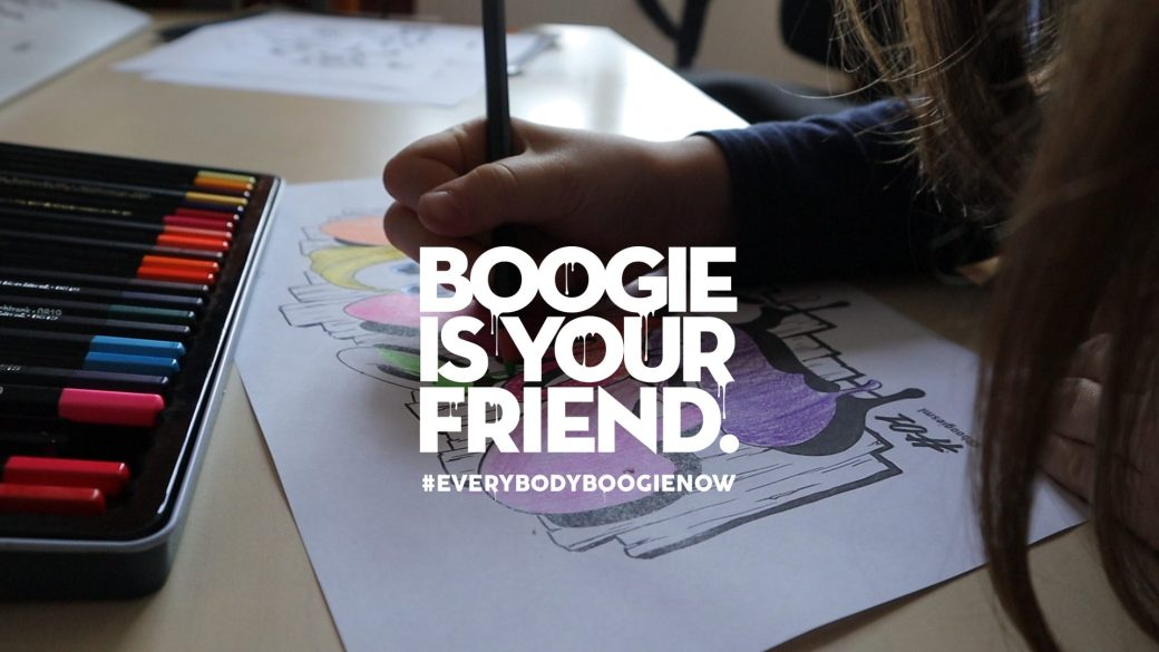 Boogiesml - planches Street Art à colorier - coloring books