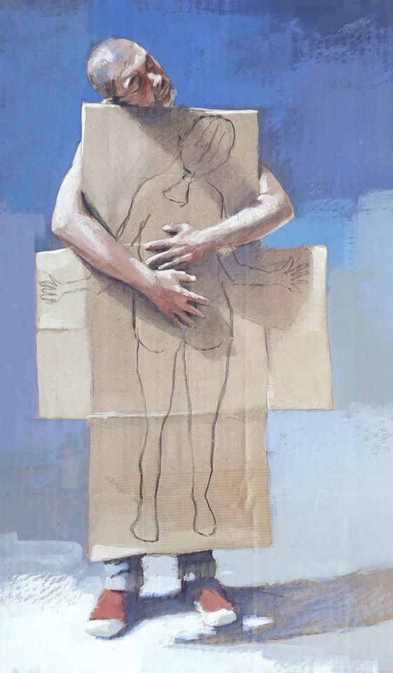 oeuvre réalisée par l'artiste Française Philippe Hérard pendant le confinement