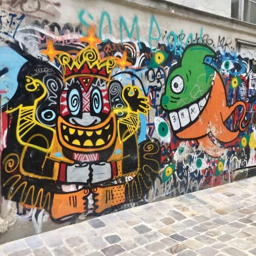 Graffitis & Tags dans le Marais à Paris