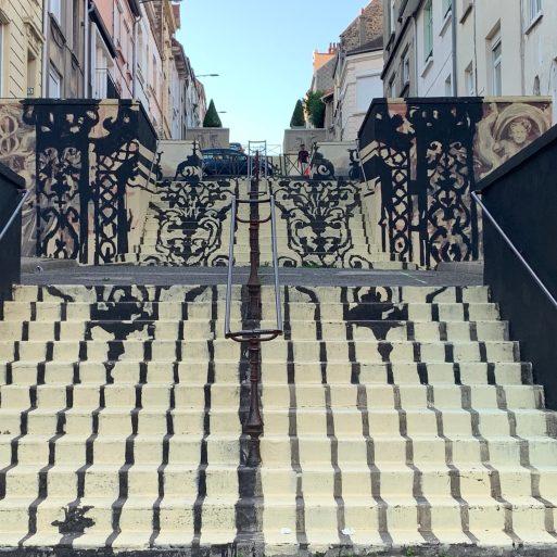 Escalier Gonzalo Borondo - Street Art Boulogne-sur-mer