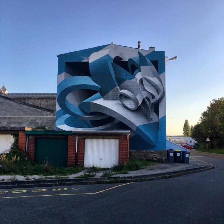 Street Art Boulogne-sur-mer : Oeuvre anamorphique de Peeta Ead