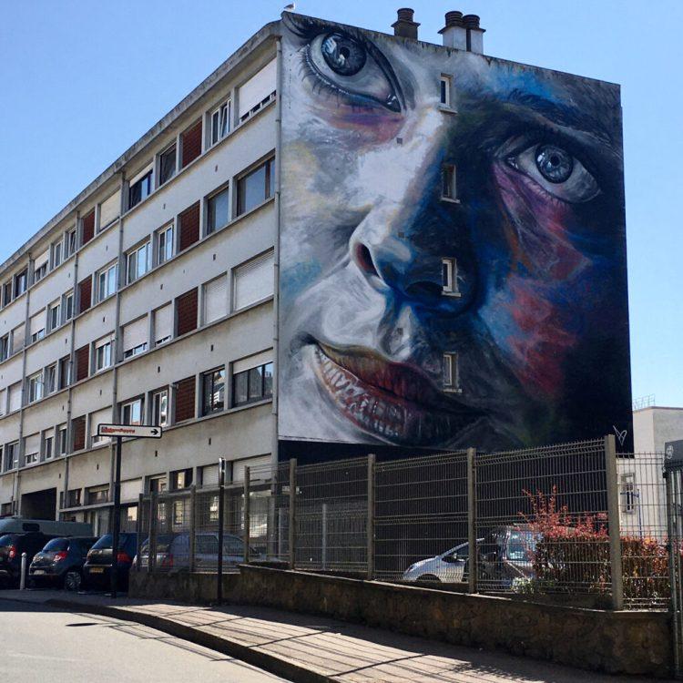Street Art Boulogne-sur-mer : portrait dans le style photoréalisme réalisé par David Walker
