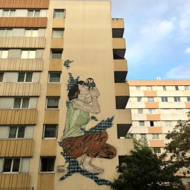 Boulevard Paris 13 - Oeuvre Diptyque réalisée par les Street Artistes Jana & Js au pochoir en Hommage à la photographie argentique