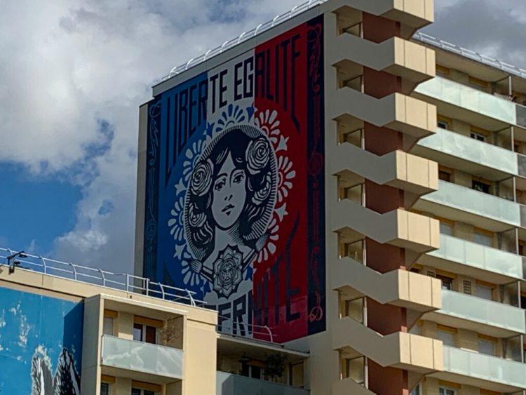 Boulevard Paris 13 - musée du Street Art à ciel ouvert- Marianne de Shepard Fairey