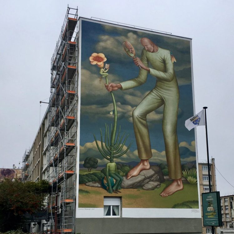 Street Artiste Ukrainien WAONE à Versailles - Quai 36 projet 1096
