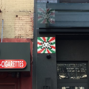 Invader - drapeau Italien - Mulberry Street New-York
