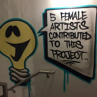 5 female artists contributed to this project
