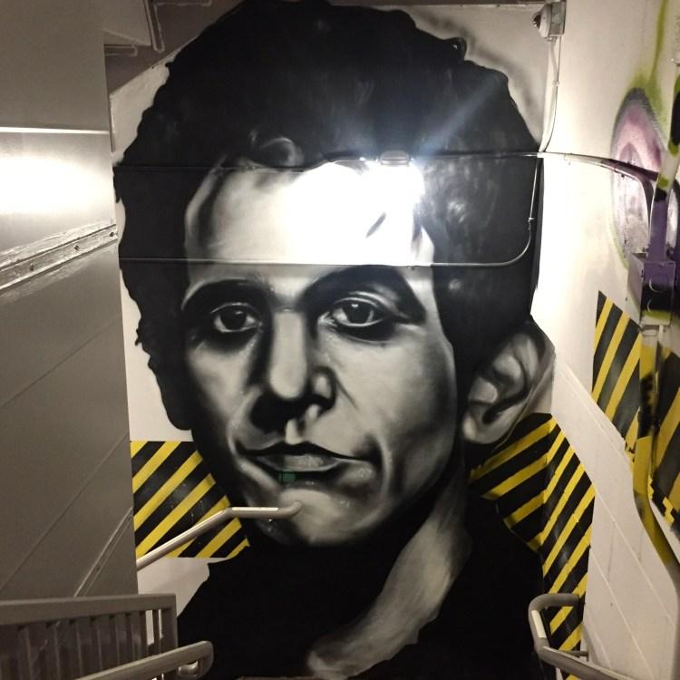 Portrait de Lou Reed par TRANS1 au Mosa Bowery de New York