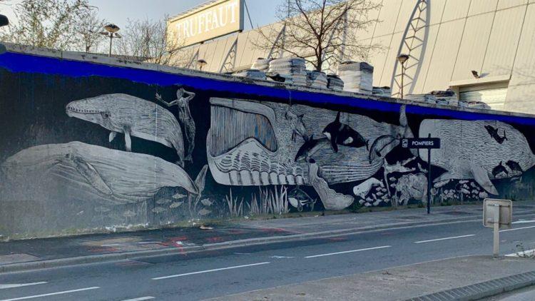 20 mille lieues sous la Seine - fresque réalisée par les soeurs Chevalme