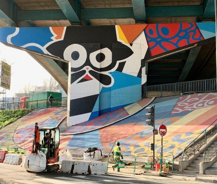 Street Art Avenue - Habillage urbain réalisé par Tim Zdey