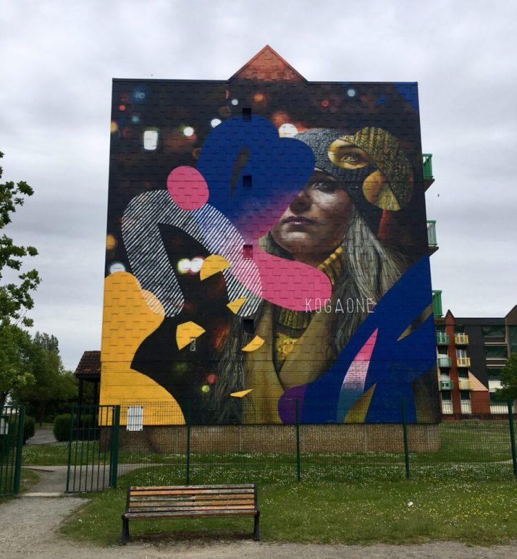 Street Art à Abbeville Espace Transition Ephemere - Fresque Murale de Kogaone