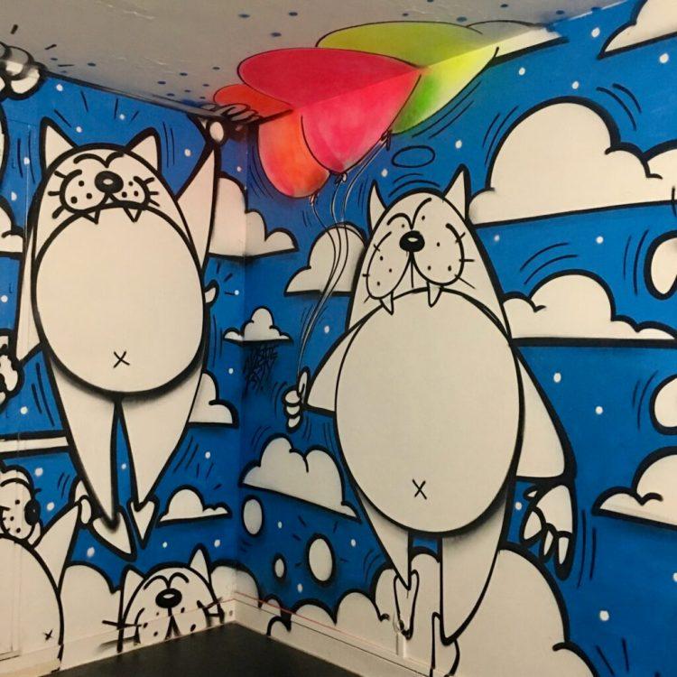 personnage Dizzy par le graffeur Dize156 à Abbeville