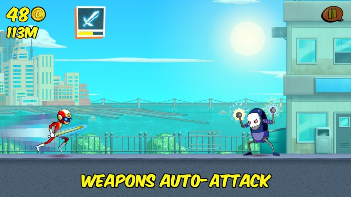 Weapons auto-attack.