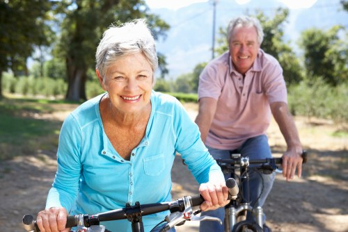 Seniors Bicycling