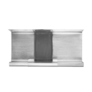 Компенсатор линейного расширения цинк-титан schiefergrau (тёмно-серый) для водосточного квадратного желоба RHEINZINK (длинна 260мм)