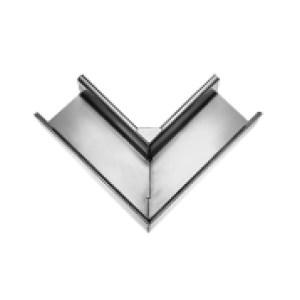 Угол водосточного желоба квадратный 90°, внутренний, плечо 300мм, паянный цинк-титан RHEINZINK-prePATINA schiefergrau (тёмно-серый)
