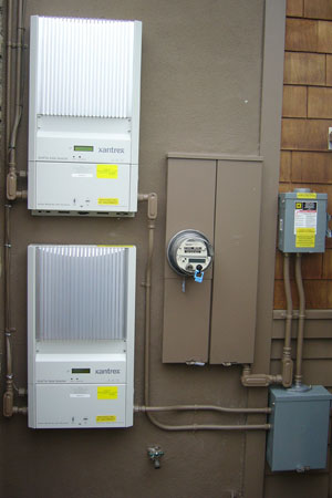 Xantrex inverters and line connection