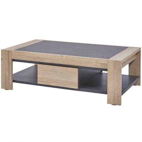 horatio table basse rectangulaire 1 tiroir