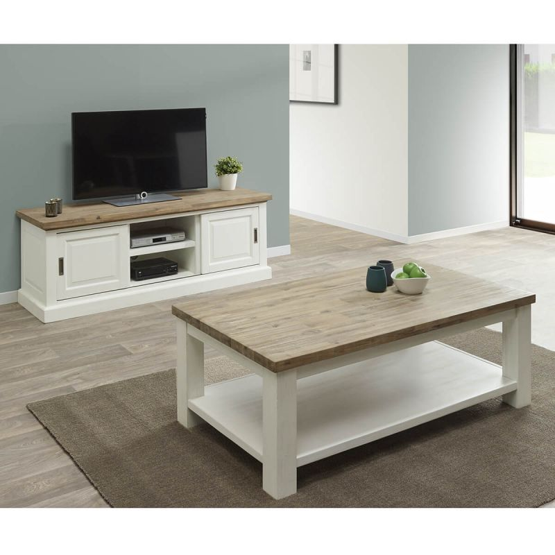 dresde ensemble table basse et meuble tv