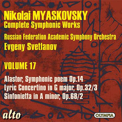 Myaskovsky: Complete Symphonic Works, Volume 17