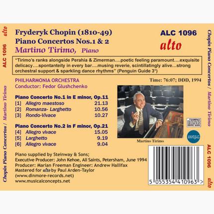 ALC 1096 - Chopin: Piano Concertos