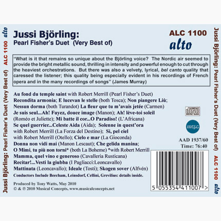 ALC 1100 - The Very Best of Jussi Björling