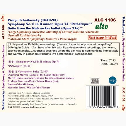 ALC 1106 - Tchaikovsky: Symphony No. 6 / Nutcracker Suite