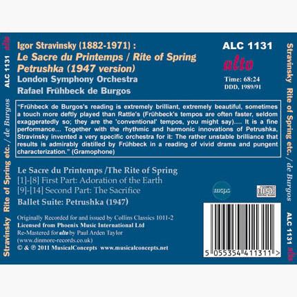 ALC 1131 - Stravinsky: Le Sacre du Printemps / Petrushka