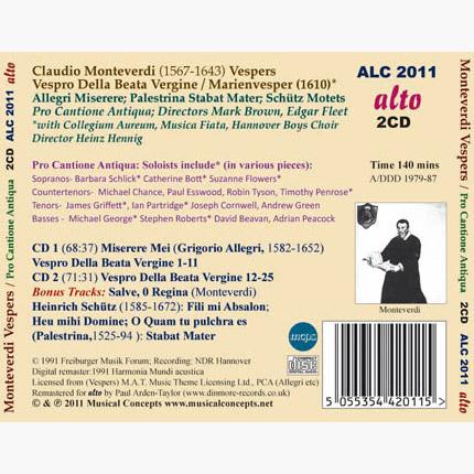 ALC 2011 - Monteverdi: Vespers of 1610