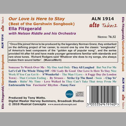 """Sings Gershwin """"Our Love is Here to Stay"""" (The Songbook)"""