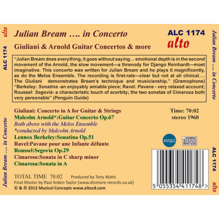 Julian Bream …. in Concerto