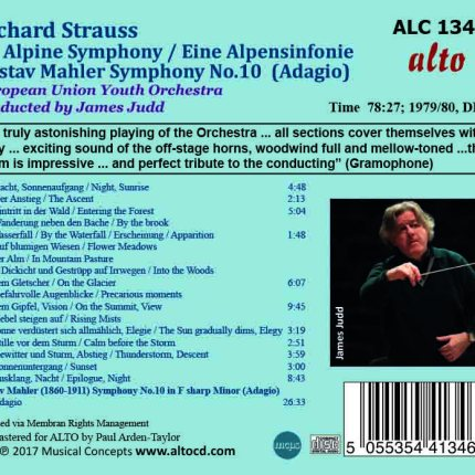 Richard Strauss Eine Alpensinfonie / Mahler: Adagio (Symphony 10)